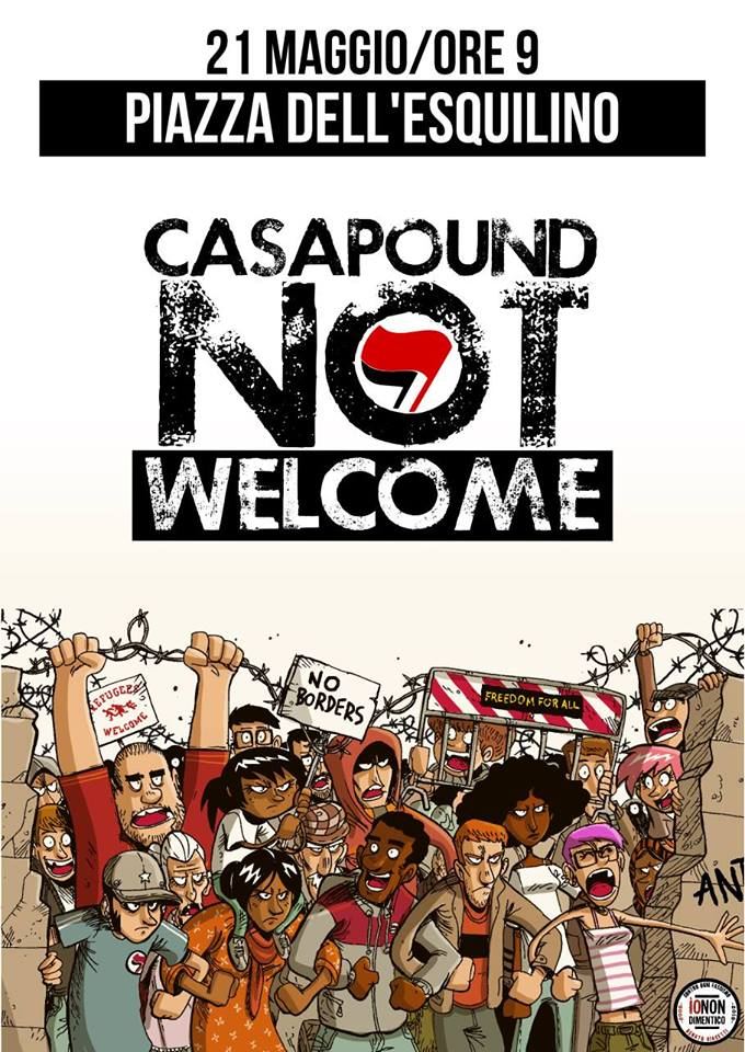 Casa Pound not welcome 21-5-16