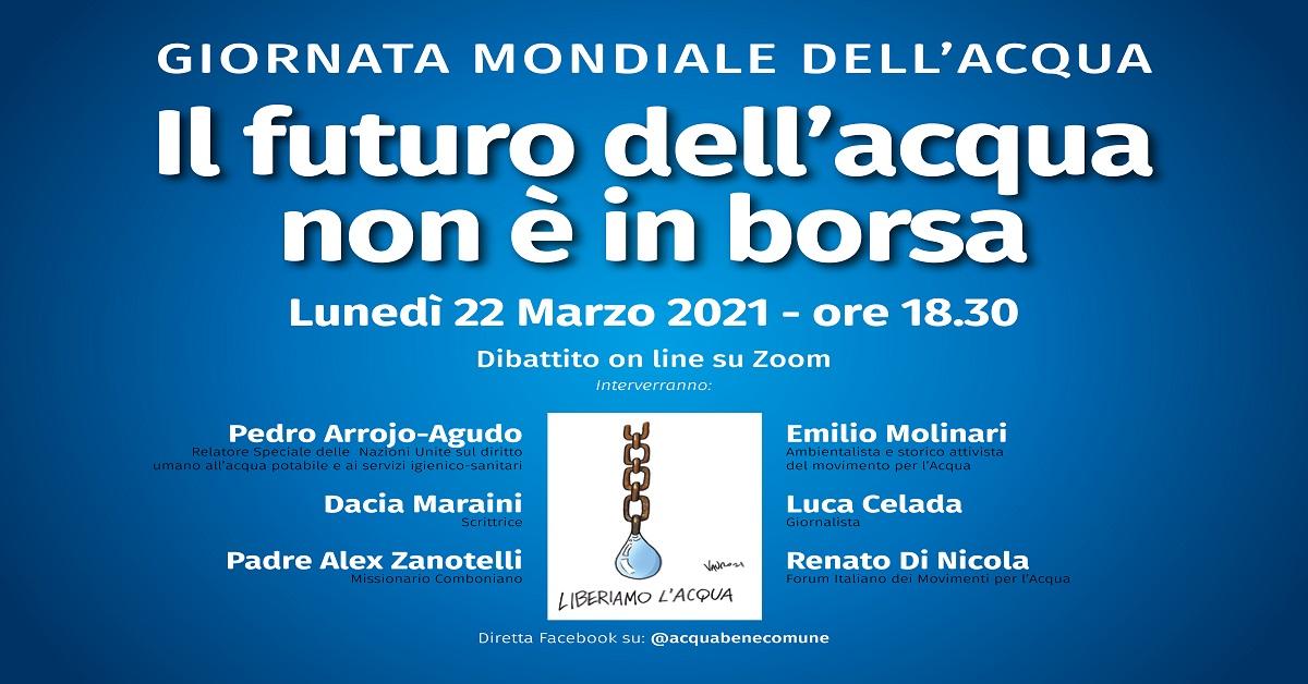 Locandina evento FB iniziativa on line Giornata Mondiale Acqua 22 3 21 def