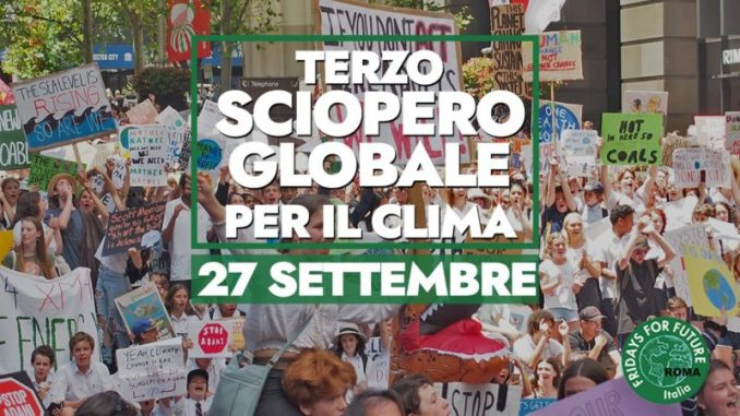 fridays-for-future-sciopero globale 27-9-19