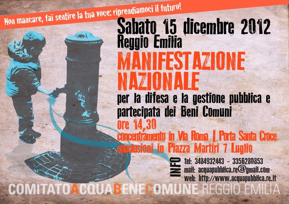 15/12 - Manifestazione nazionale a Reggio Emilia
